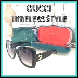 Gucci NWT Oversized Black/Gradient Sunglasses HOT